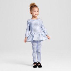 Toddler Girls' Peplum Top and Pant set